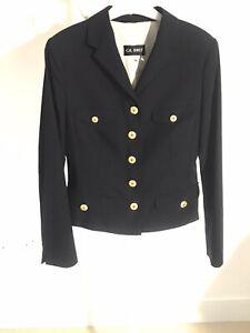 Gil Bret navy jacket size12uk 38 eu golden buttons