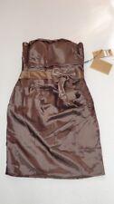 Vestido de Cóctel Mini Hombros Descubiertos Corto Noche L 40 - Brown 42