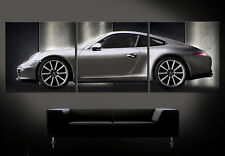 PORSCHE 911 CARRERA S SILBER Leinwand Bild Bilder Kunstdruck Typ 991 Sportwagen