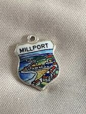 MILLPORT Silver Travel Shield Enamel Charm