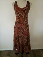 LAUREN RALPH LAUREN Dress Sz XS Paisley Patchwork Indian Spice Print Fit Flare