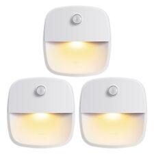 3x Warm White LED Motion Sensor Night Lights Wall Desk Lamp Home room Kid Gift