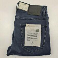 NWT Neuw Lou Slim Stretch 29 x 32 Indigo Black Weft Denim Jeans Button Fly
