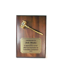 Gavel Plaque- Retirement- Recognition- Appreciation- Thanks- Free Lettering