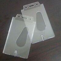 2 porte-badges d'identification de carte de crédit en plastique rigide verti IY
