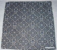 New Unisex 100% Cotton Bandana/Head Wrap/Scarf, Black/White Print w/Skulls