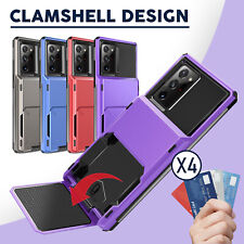 For Samsung Galaxy Note 20 S20 Ultra S10 5G Wallet Card Slot Holder Case Cover