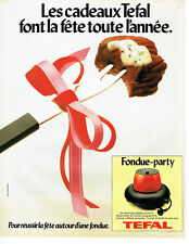 Publicité Advertising 107  1979  Tefal  la fondue-party