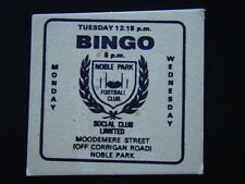 NOBLE PARK FOOTBALL CLUB SOCIAL CLUB LIMITED MOODEMERE ST COASTER