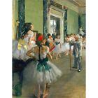 Edgar Degas Ballet Class Old Master Painting 12X16 Inch Framed Art Print