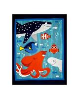 Patchwork Quilting Sewing Fabric FINDING DORY NEMO Panel 90x110cm New Material
