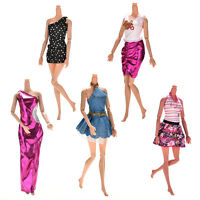 5X Handmade Wedding Dress Party Gown Clothes Outfits For Barbie Doll Gift JP
