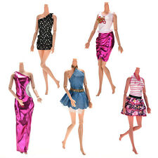 5 X Handmade Wedding Dress Party Gown Clothes Outfits For Barbie Doll Gift UK