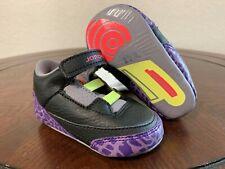 Jordan Crib 3 Retro infant (Gp) Style 574416-039 Size 3C with Beanie