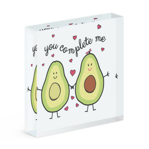 Avocado You Complete Me Acrylic Photo Block Frame Funny