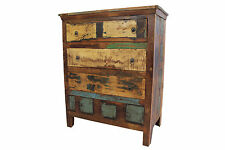 Chest Of Drawers Large Vintage Reclaimed Solid Bedroom Storage FREE DELIVERY