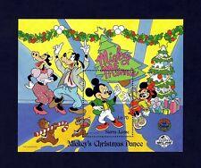 SIERRA LEONE - 1988 - DISNEY - MICKEY - MINNIE - CHRISTMAS DANCE - MINT S/SHEET!