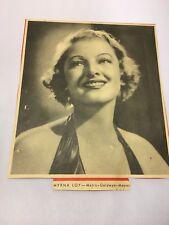 "Myrna Loy Original 1935 Color Photo Magazine Cut Out 7x7"" MGM Studios"