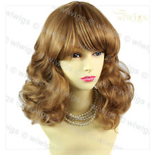 Medium Classic Curly Blonde & Brown Ladies Wig Natural Hair From WIWIGS UK