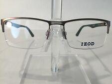 IZOD IZ2025 Men's Semi Rimless Eyeglass Frame Brown 54-17 NEW! w/case