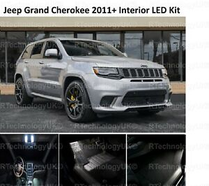 PREMIUM for JEEP GRAND CHEROKEE 2011+ INTERIOR WHITE FULL LED LIGHT BULB KIT