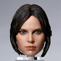 """1:6 Scale Jyn Erso Short Hair Head Model For 12"""" Female Figure Body Toys Gifts"""
