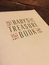 Vintage 1950s 1960s Abbott Baby's Treasure Book Baby Girl Keepsake Box