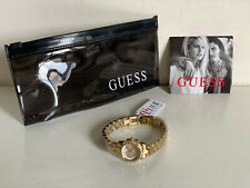 NEW! GUESS HEART SHAPE FACE CHAMPAGNE GOLD BRACELET WATCH W0730L2 SALE