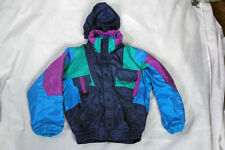 NEVICA Ski Snowboard Jacket Vintage Retro Blue Green Child's  8yrs 90's VGC!