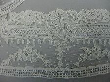 Antique Victorian Point de Gaze lace flounce
