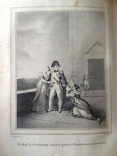 LA Sra.. POR GRANDEHAMP Napoleón Litografía orig. HOMBRES ILLUSTRI 1838 FRANCIA