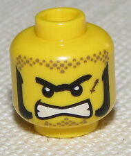 LEGO NEW MINIFGURE HEAD DUAL SIDED WITH MASK AND OPEN MOUTH PATTERN