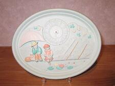 LAFOND CREATIONS *NEW* Horloge en grès décoré La Pêche coul.amande