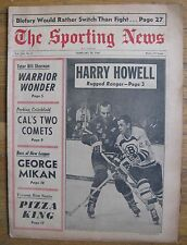 February 18, 1967 The Sporting News: NHL Harry Howell Night Madison Sq.Garden