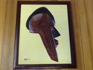 "Game of Thones Style - Kit Thompson ""Untitled"" (Mask)  signed Original OoC"