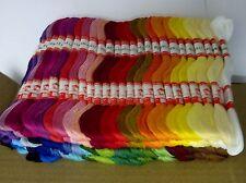 100 Madejas - 8 Metros De Largo 100% algodón trenzado de bordado & Cross Stitch