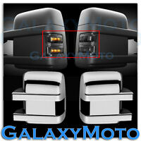 F250+F350+F450+550 Super Duty 2008-2015 Side Mirror Light LED SMOKE+Chrome Cover