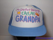 Vintage 1980s MY GREATEST BLESSING CALL ME GRANDPA Grandkids Snapback Hat Cap
