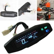 Motorcycle Dirt Bike LCD Digital Speedometer Gauge KM/H RPM With Turning Light