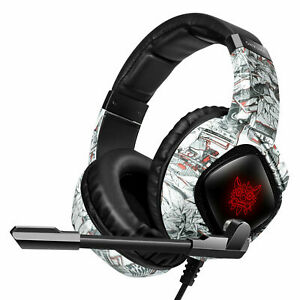 Gaming Headset With Mic Headphone RGB Light for PC Xbox One PS4 Nintendo Switch