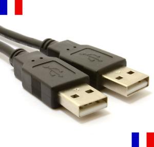 Câble Cordon USB 2.0 Male vers Male 45 cm Rallonge Données Cable Chargeur