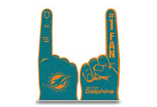 Miami Dolphins Flat Foam Finger - #1 Fan Hand NEW Going to the Game Party