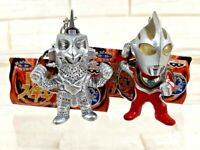 2 ULTRAMAN KAIJU MONSTER WINDOM ULTRAMAN GAIA FIGURE KEYCHAIN KEY RING BANPRESTO