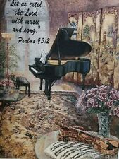 RELIGIOUS TAPASTRY WALL HANGING PSALMS 95:2