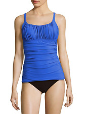Profile By Gottex Cinched Square Neck Tankini in Perwinkle, size 14