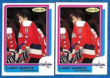 1986-87 O-Pee-Chee Regular & Blank Back LARRY MURPHY (ex-mt) #185 & Error