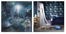 Arthouse Magic Kingdom Blue Wizard Castle Harry Potter Wallpaper, 696100
