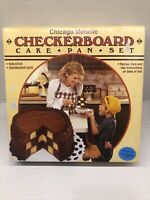 The Classic Checkerboard Cake Pan Set~New Free Shipping