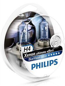 2 Light Bulbs H4 Renault Kangoo Master Megane PHILIPS Blue Ultra Xenon Effect