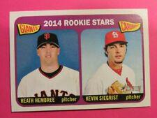 2014 Topps Heritage, Rookie Stars - HEATH HEMBREE & KEVIN SIEGRIST